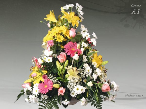 Centro flor variada A1
