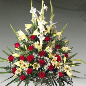 Centro floral funerario modelo A10