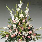 Centro floral funerario modelo A5