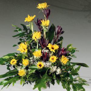 Centro floral funerario modelo A6