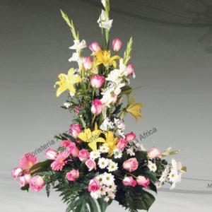 Centro floral funerario modelo A8