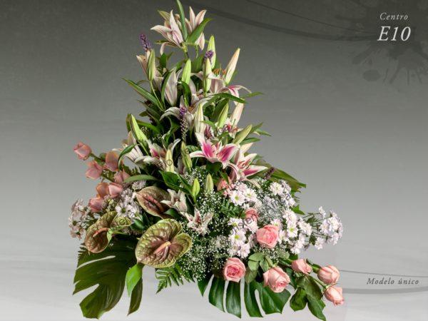 Centro floral funerario modelo E10