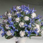Centro floral funerario modelo E9