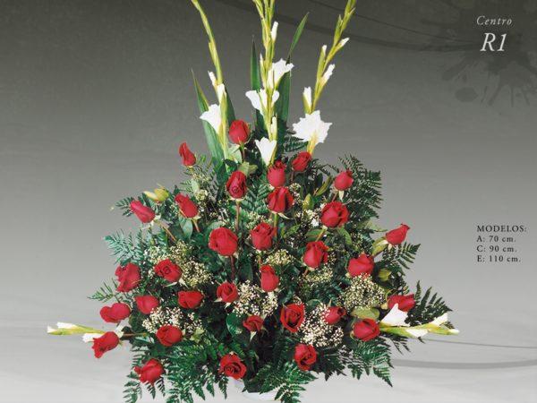 Centro floral funerario modelo R1