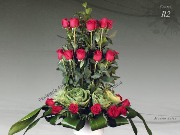 Centro floral funerario modelo R2