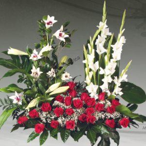 Centro floral funerario modelo R3