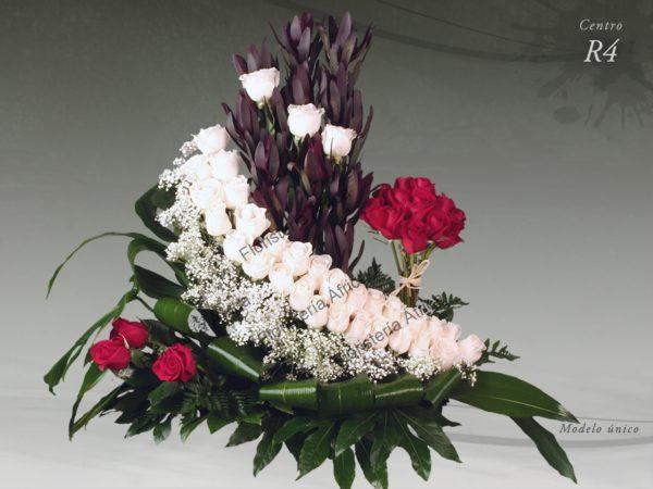 Centro floral funerario modelo R4