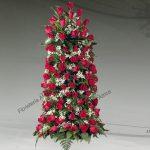 Columna floral funeraria de rosas