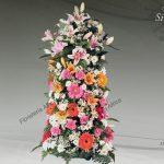 Columna floral funeraria modelo silvestre