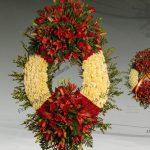 Corona funeraria modelo bandera de España E5