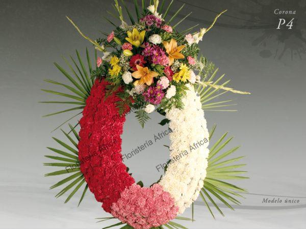 Corona floral funeraria modelo P4