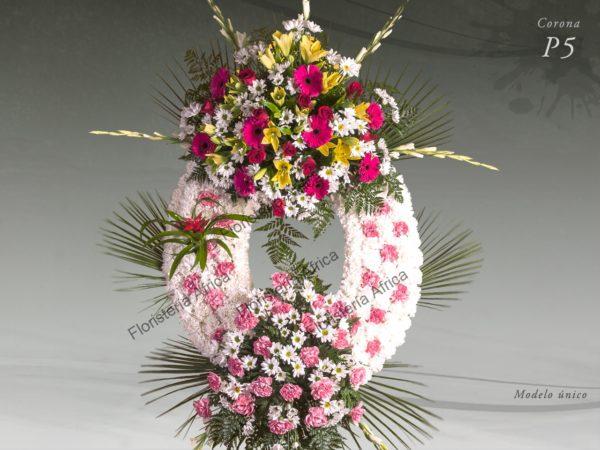 Corona floral funeraria modelo P5