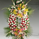 Corona floral funeraria modelo P7