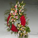Corona floral funeraria modelo P9
