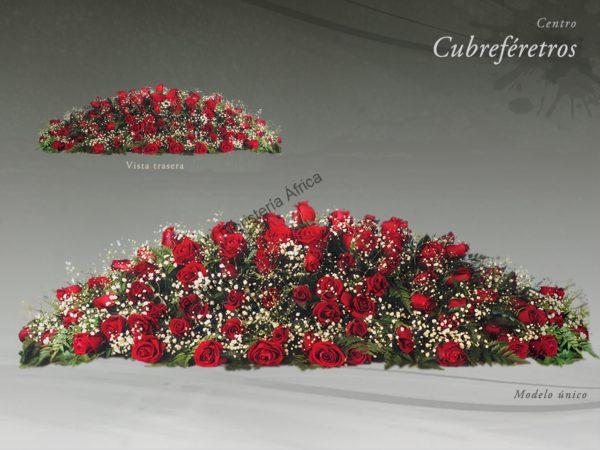 Centro floral. Almohadón cubreféretros