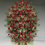 Palma floral funeraria de rosas