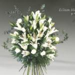 ramo de lilium blanco y rosas